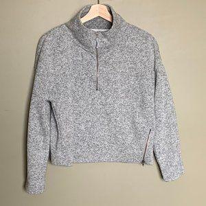 Fabletics cropped high neck half zip sweatshirt
